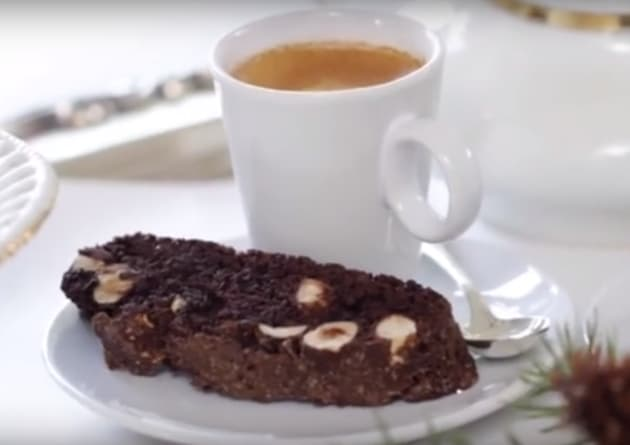 Chocolate Hazelnut Biscotti with Coffee
