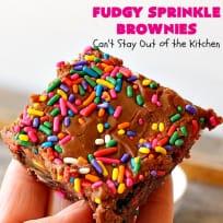 Fudgy Sprinkle Brownies