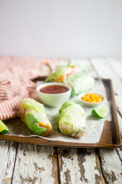 BBQ Chicken Summer Rolls Picture
