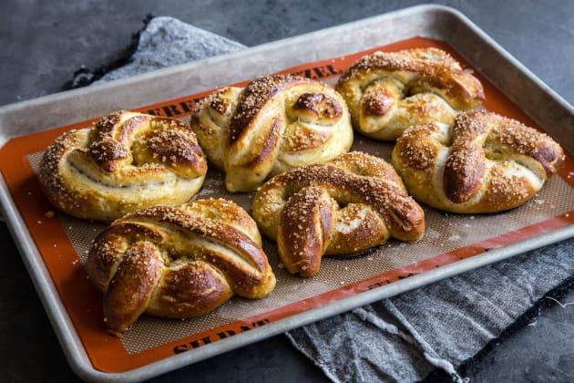 Garlic Herb Baked Pretzels Image