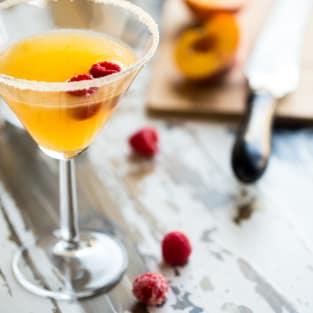 Peach martini photo