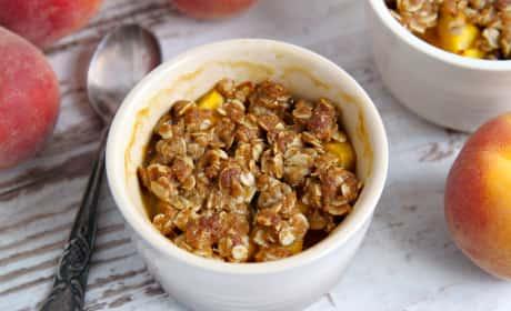 Peach Amaretto Crumbles Recipe