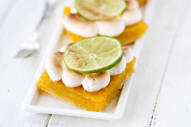 Key Lime Pie Meringue Bars Photo