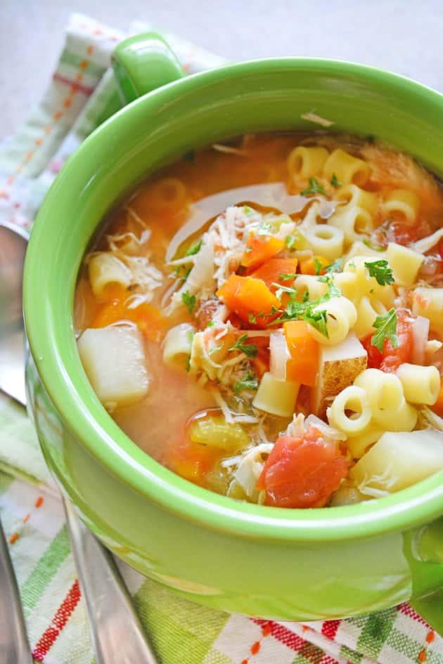 Sicilian Chicken Soup - Food Fanatic