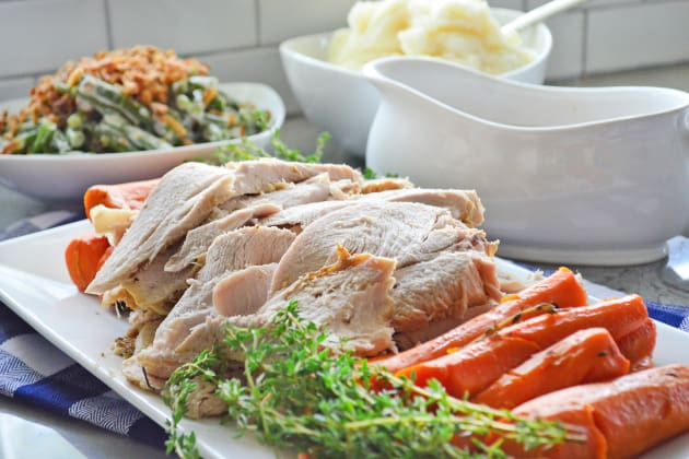 Instant Pot Turkey Breast with Carrots and Homemade Gravy Photo