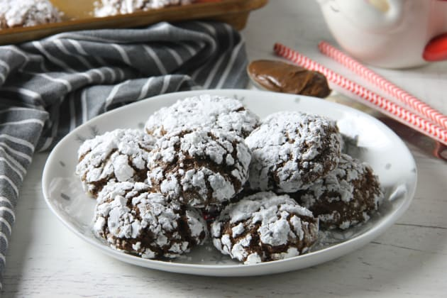 Chocolate Hazelnut Crinkle Cookies Photo