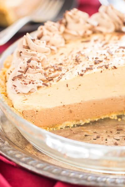 No Bake Chocolate Peanut Butter Pie Image