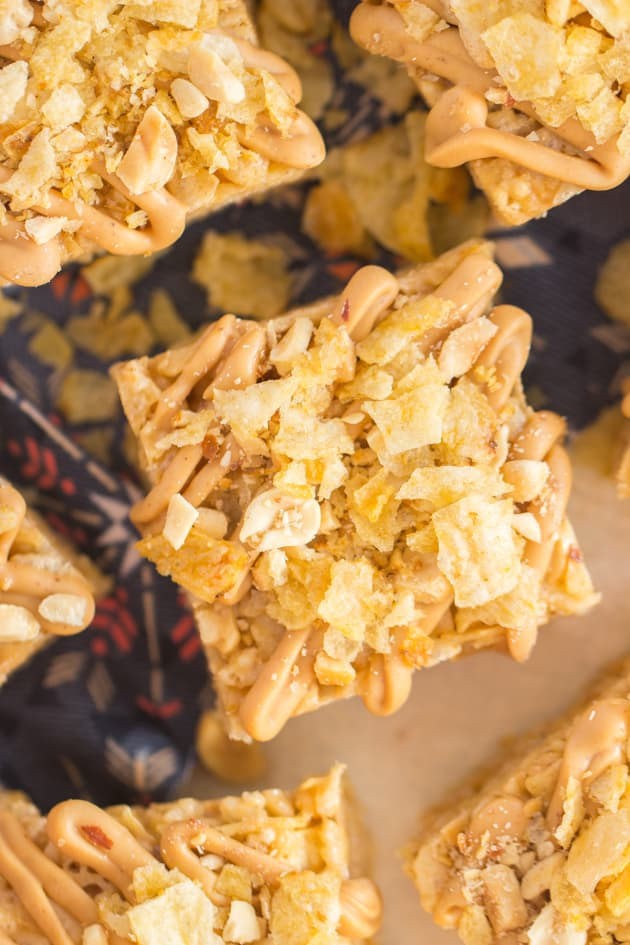 Peanut Butter Potato Chip Rice Krispie Treats Pic