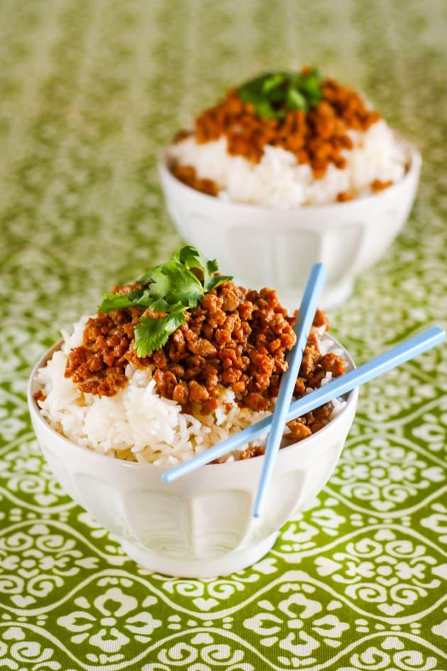 Gluten Free Korean Turkey and Rice Bowl Image