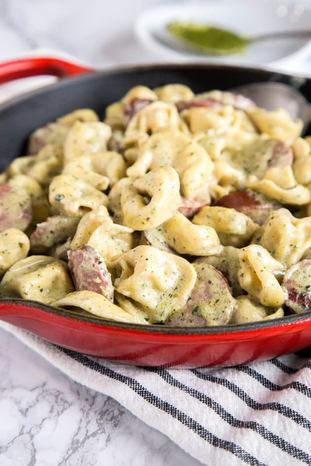 Creamy Pesto Tortellini Pic
