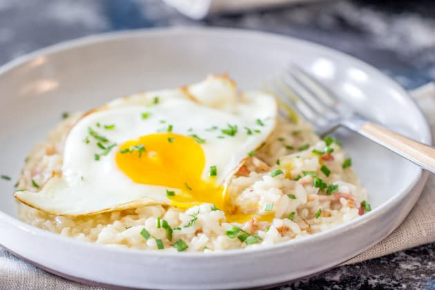 Bacon and Egg Risotto Pic