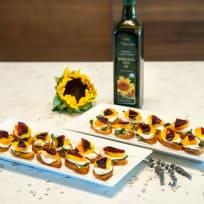 Sunflower Beet Bruschetta