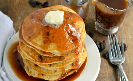 Cinnamon Raisin Bread Pancakes Photo