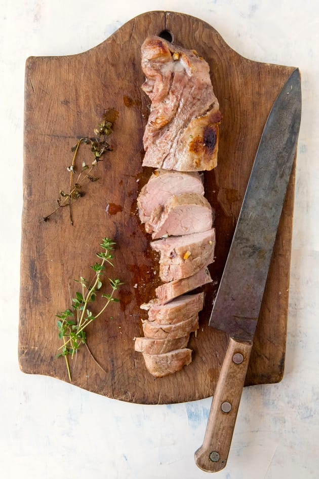 Apple Cider Pork Tenderloin with Potatoes and Apples Image