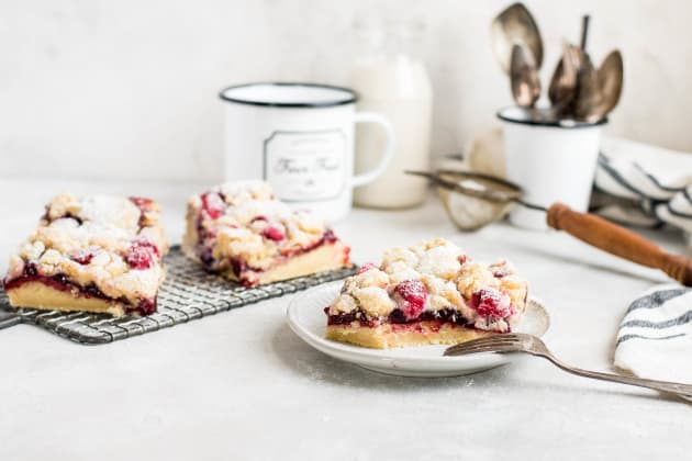Raspberry Lemon Cookie Bars Photo