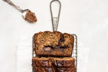 Nutella-Swirled Banana Bread Recipe