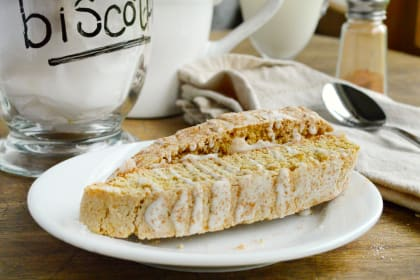 Spiced Biscotti with Maple Glaze