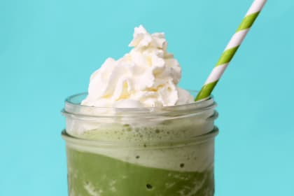 Homemade Starbucks Green Tea Frappuccino