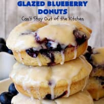 Glazed Blueberry Donuts