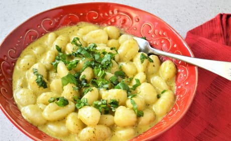 Creamy Pesto Gnocchi Recipe