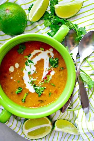 Instant Pot Coconut Curry Lentil Tomato Soup Pic