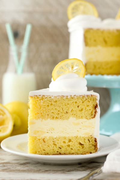 Lemon Ice Cream Cake Picture