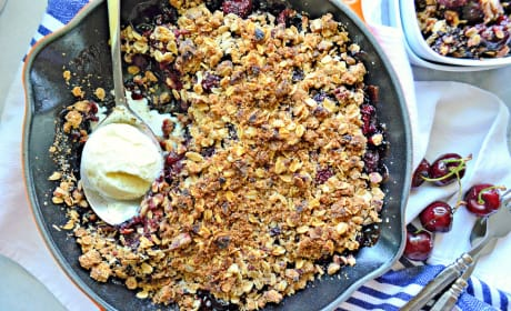 Dairy-Free Skillet Cherry Crisp Photo