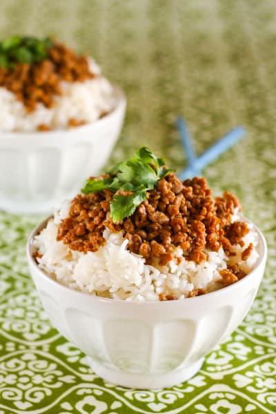 Gluten Free Korean Turkey and Rice Bowl Picture