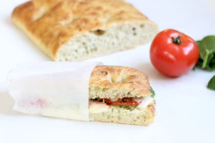 Roasted Tomato Mozzarella Panini