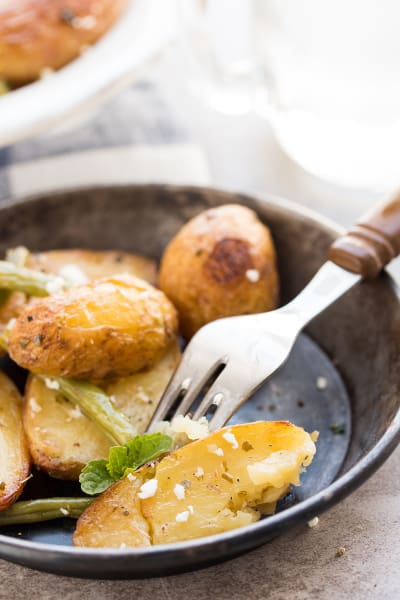 Greek Roasted Potatoes and Green Beans Image