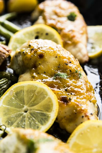 Sheet Pan Honey Garlic Lemon Chicken Pic