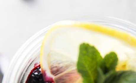 Lemon Blueberry No Bake Cheesecakes Image