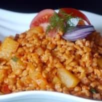 Krumplis tarhonya