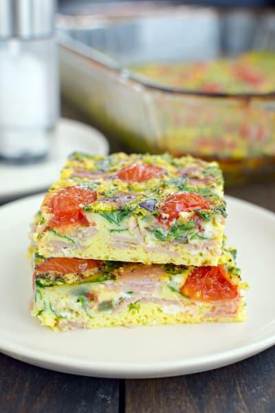 Ham and Tomato Egg Bake Image