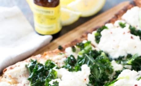 Grilled Lemon Kale Ricotta Flatbread Picture
