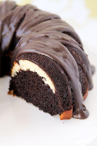 Ribboned Fudge Bundt Cake Picture