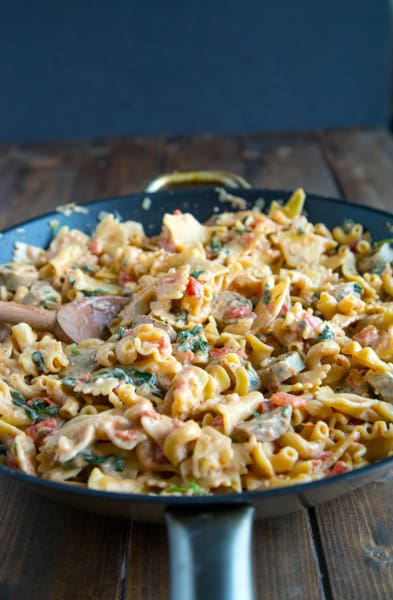 Sausage Spinach Pasta Picture