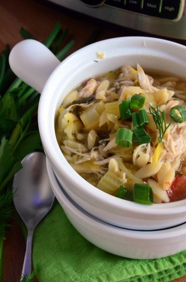 Lemon Chicken Orzo Soup Image