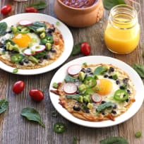 Baked Egg Tostadas Recipe
