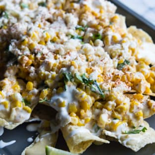 Mexican street corn nachos photo
