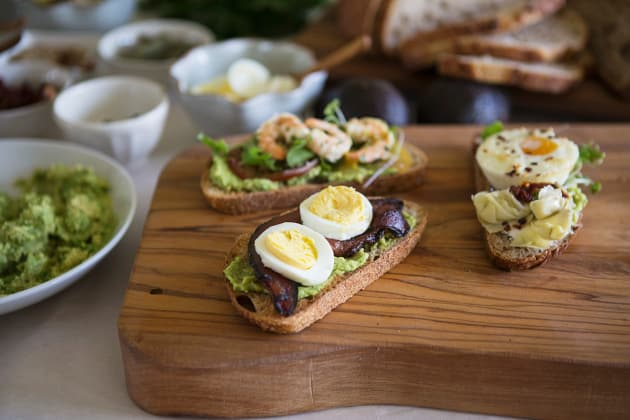 Avocado Toast Bar Eggs Close