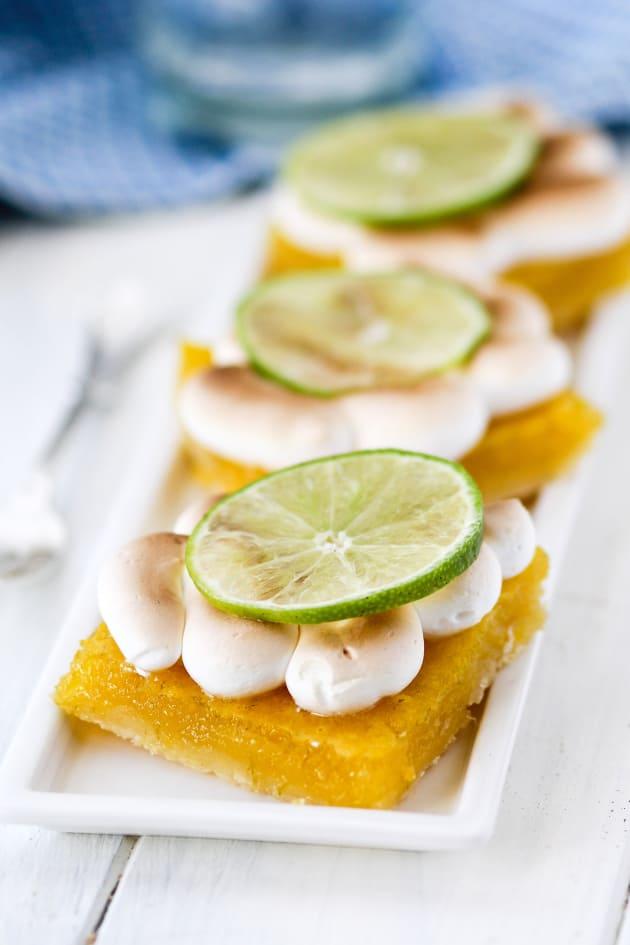 Key Lime Pie Meringue Bars Image