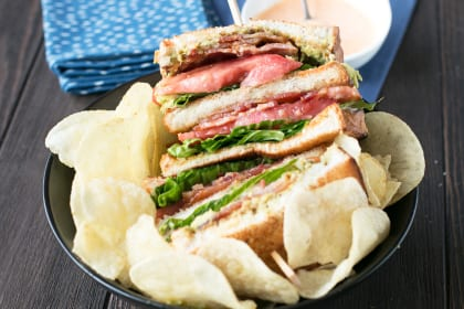 The Perfect BLAT with Spicy Candied Bacon