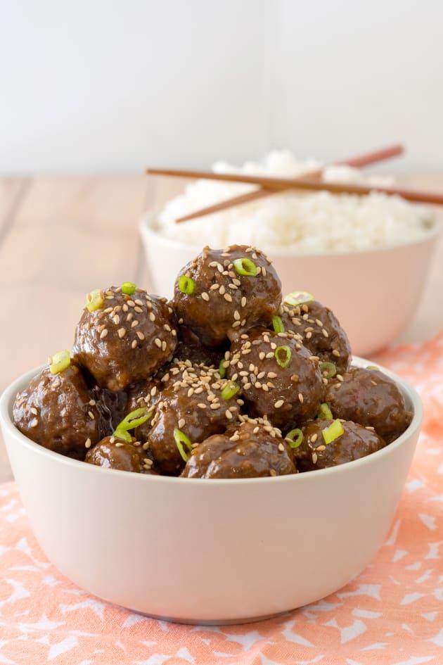 Baked Gluten Free Teriyaki Meatballs Picture