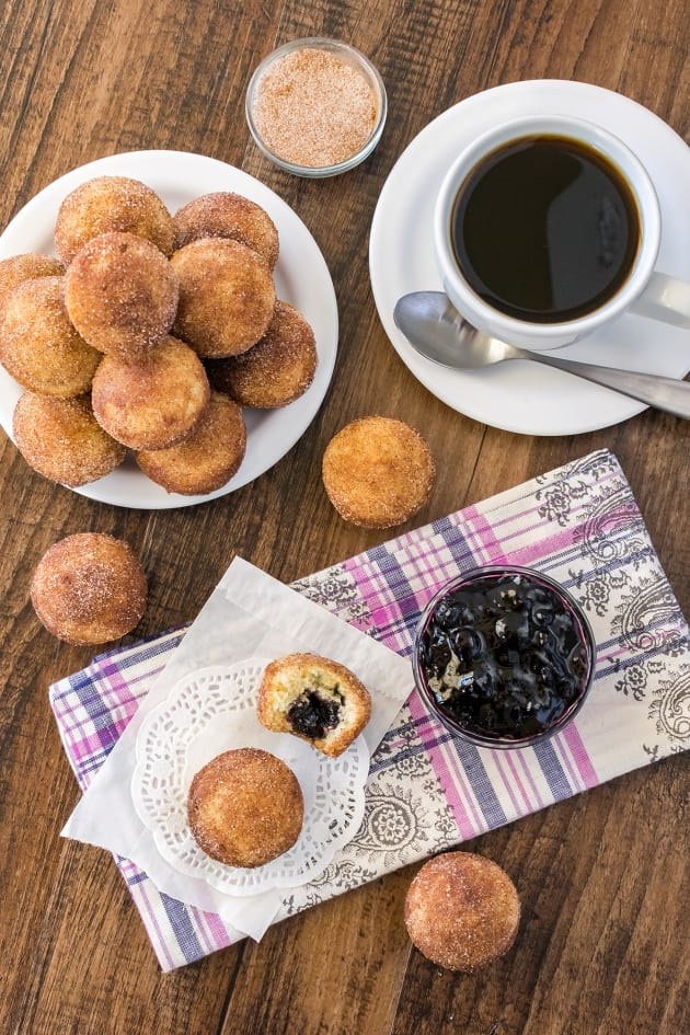 Blueberry Jelly Donut Holes Picture