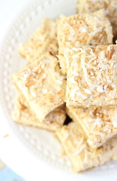 Peanut Butter Coconut Blondies Image