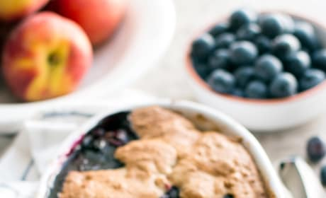 Oatmeal Cookie Blueberry Peach Cobbler Picture