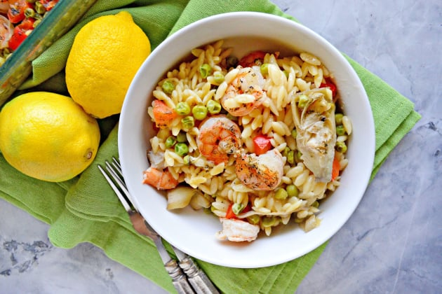 One Pan Lemon Artichoke & Shrimp Orzo Pic
