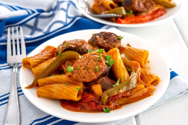 Easy Sausage and Peppers Pasta Image
