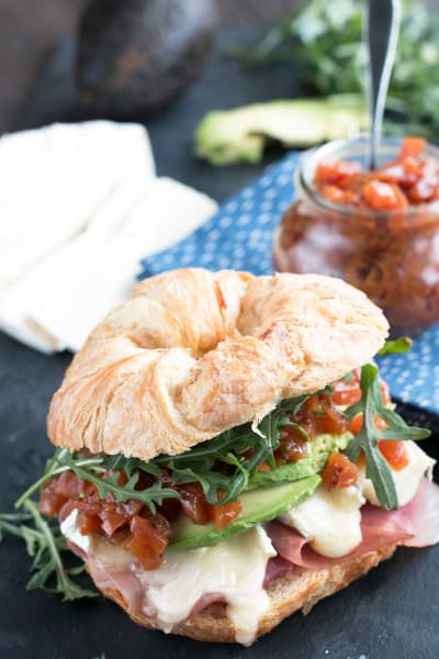 File 3 Avocado Prosciutto Brie Sandwiches